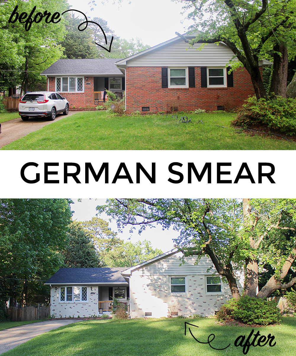 Ranch House Home Update German Smear On Our Brick Tilley